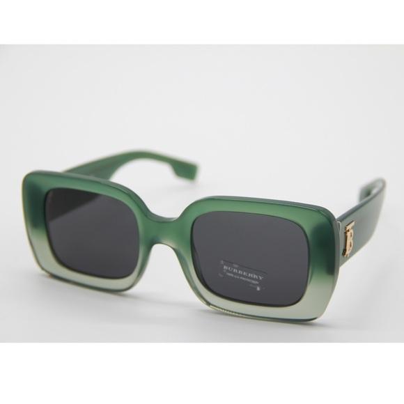 New BURBERRY BE4327 3913/87 Green Sunglasses